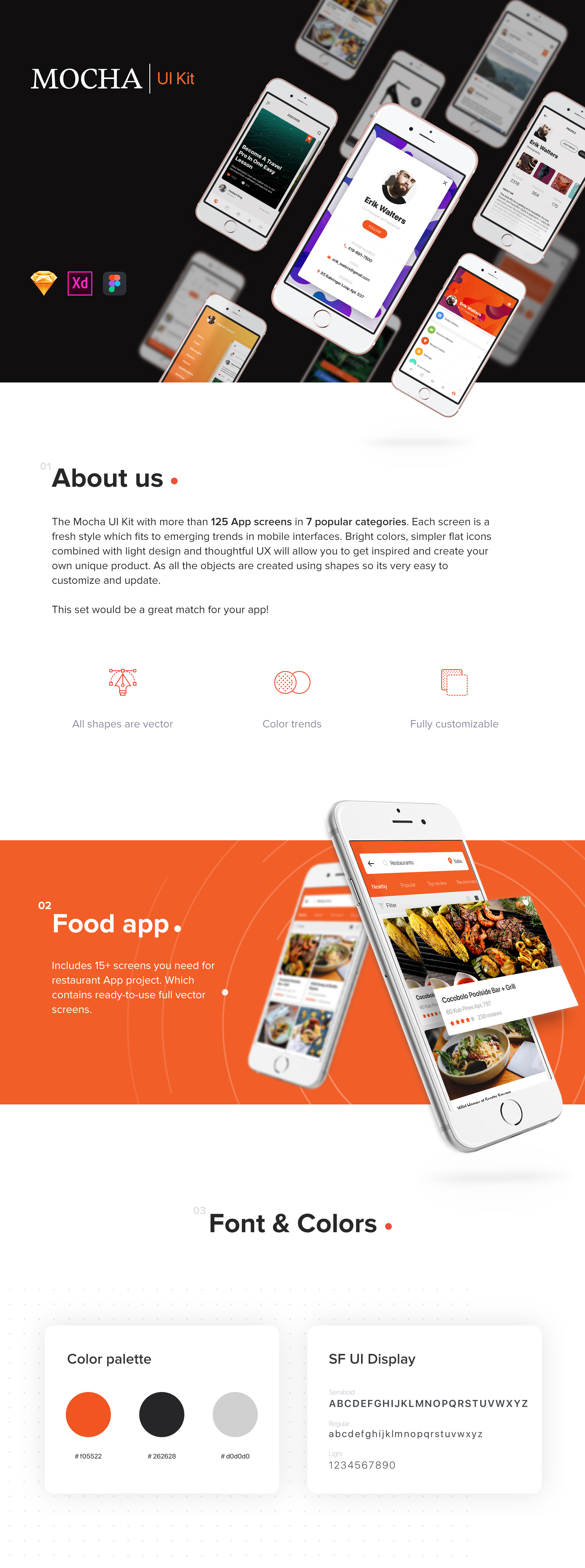 Mocha Mobile UI Kit - 1