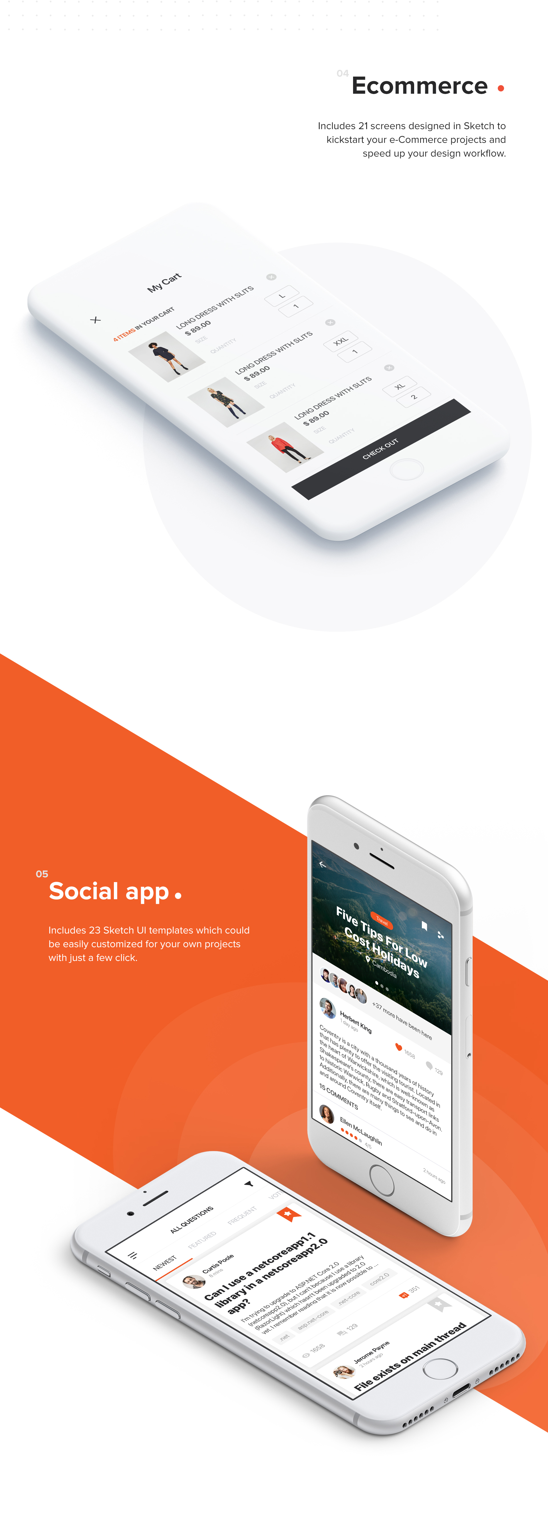 Mocha Mobile UI Kit - 2