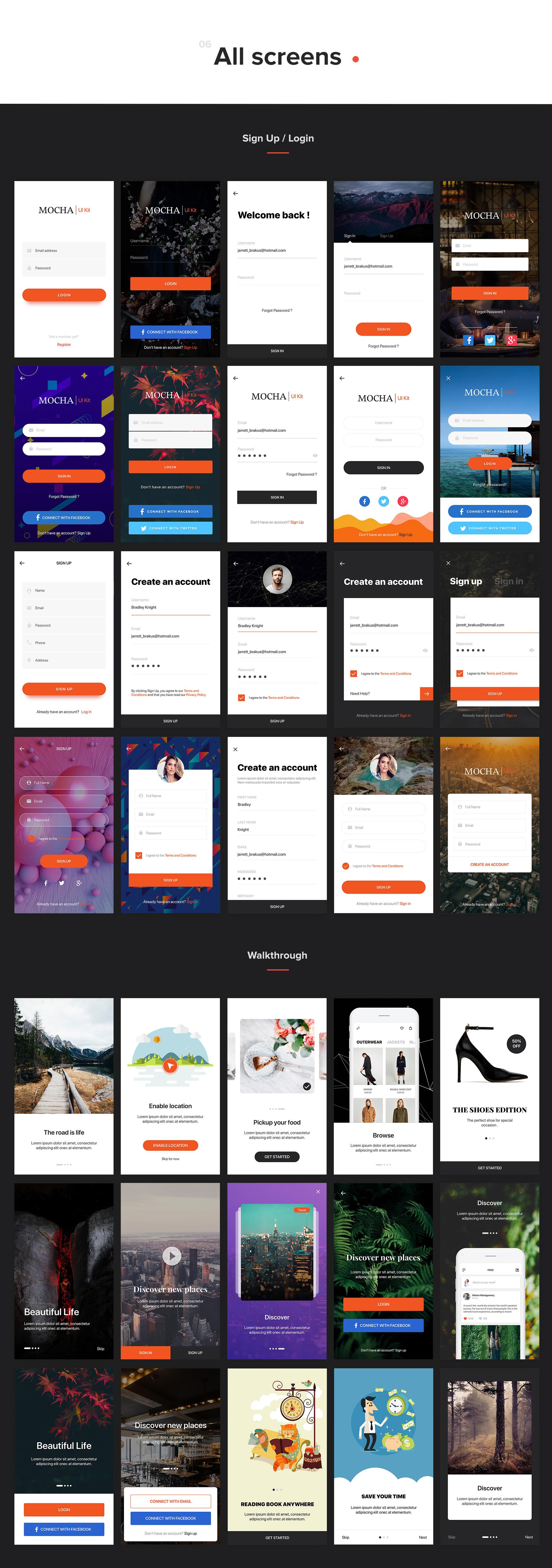 Mocha Mobile UI Kit - 3