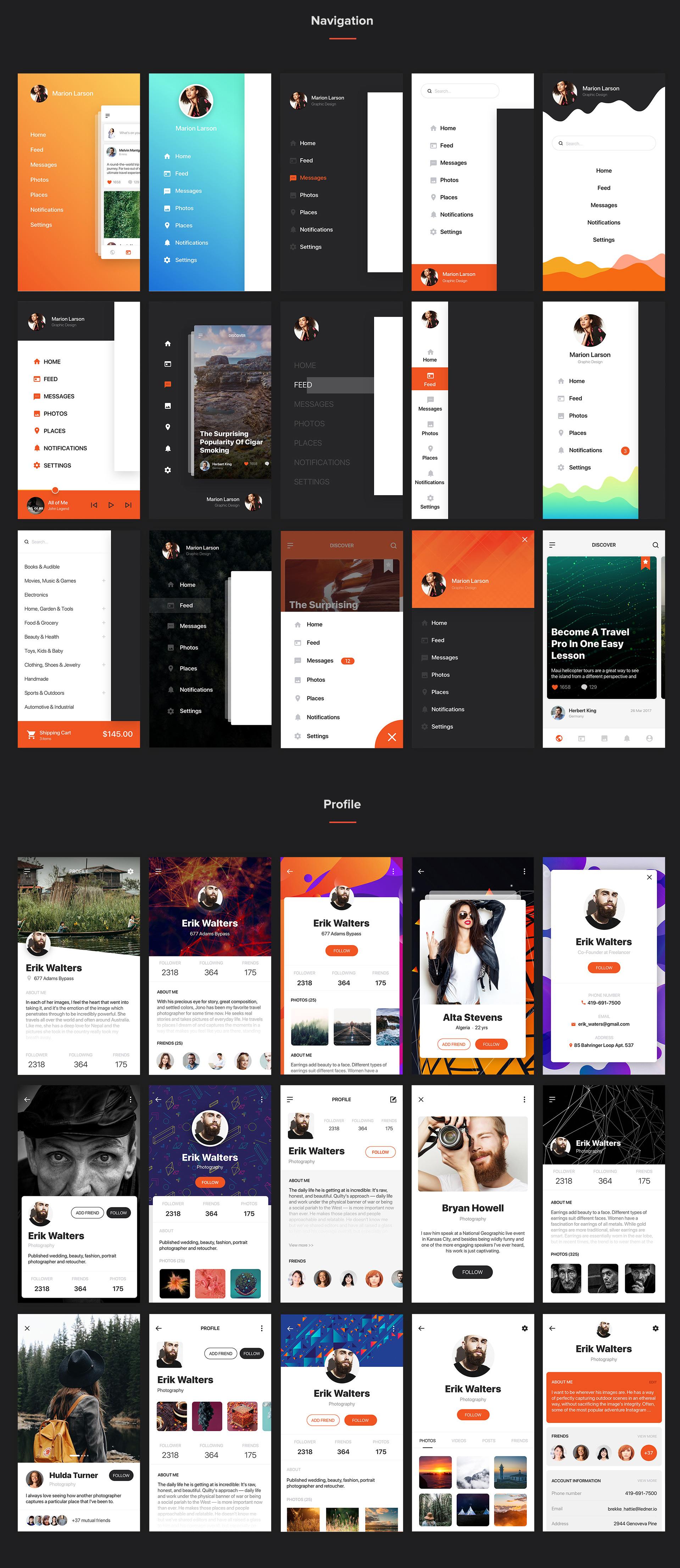 Mocha Mobile UI Kit - 4