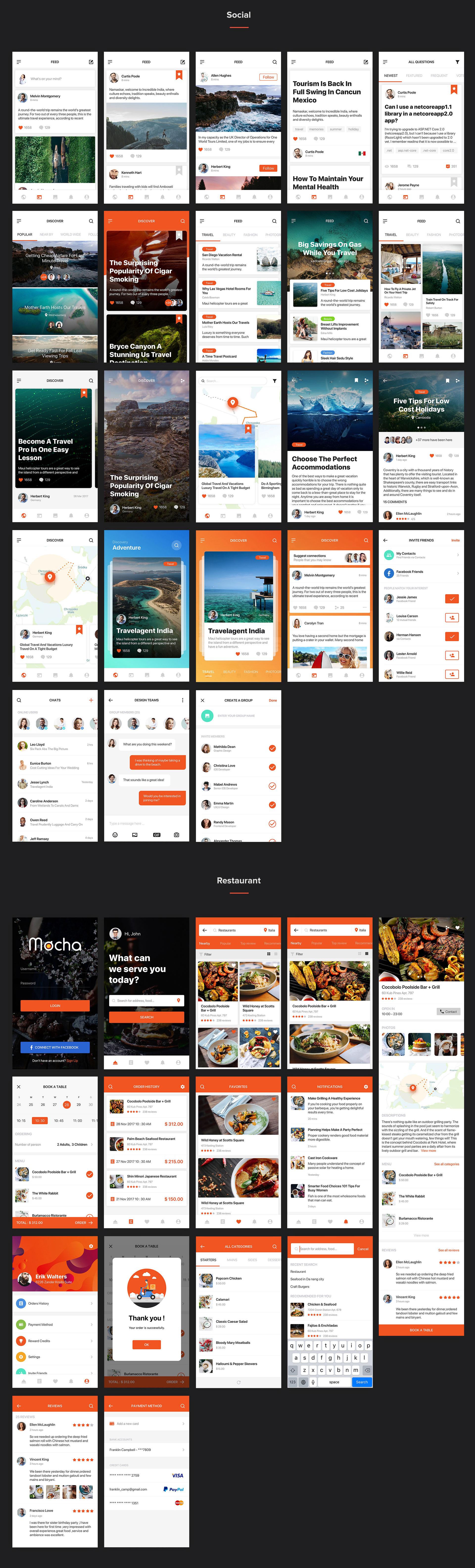 Mocha Mobile UI Kit - 6