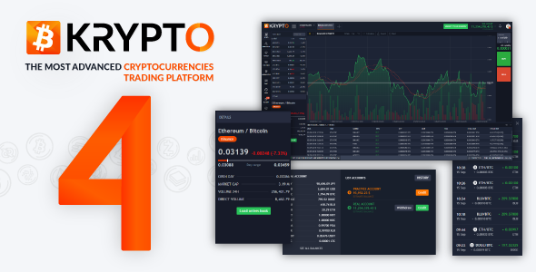 Krypto 4 - Live Trading, Advanced Data, Market Analysis, Watching List, Portfolio, Subscriptions ... - CodeCanyon Item for Sale