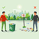 Correct and Wrong Littering Garbage - GraphicRiver Item for Sale