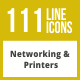 111 Networking & Printers Line Inverted Icons - GraphicRiver Item for Sale
