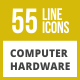 55 Computer & hardware Line Inverted Icons - GraphicRiver Item for Sale