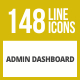 148 Admin Dashboard Line Inverted Icons - GraphicRiver Item for Sale