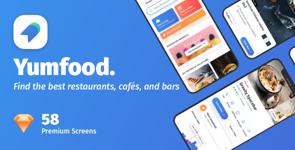YumFood - Mobile App UI kit by Design-Oxy | ThemeForest