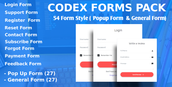 Codex Forms Pack - CodeCanyon Item for Sale