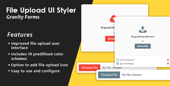 Gravity Forms File Upload Enhance UI - CodeCanyon Item for Sale