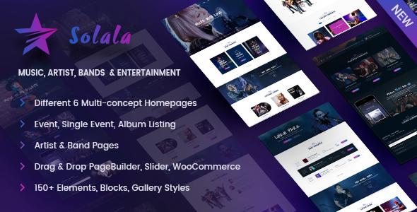 Music WordPress | Solala Music - Music and Bands Entertainment