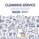 Cleaning Service Doodle Concept - GraphicRiver Item for Sale