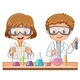 Two Students Do Science Experiment - GraphicRiver Item for Sale