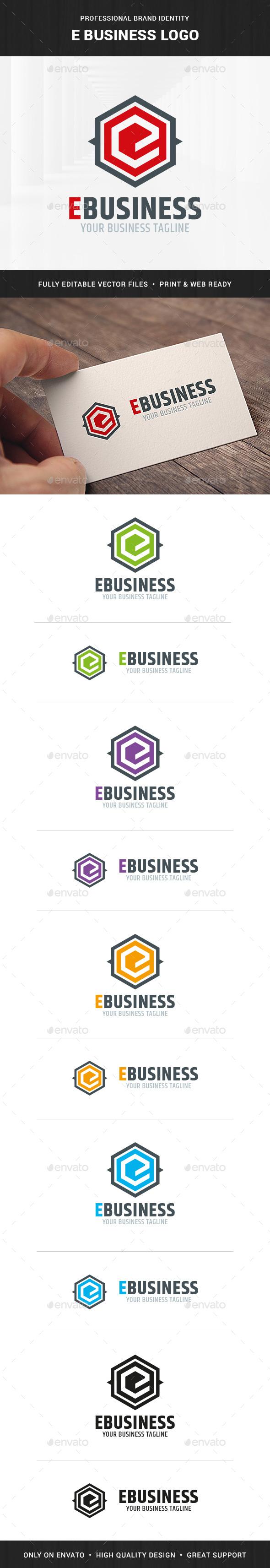 E-Business - Letter E Logo Template - Letters Logo Templates