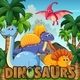 Cartoon Dinosaurs - GraphicRiver Item for Sale