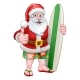 Christmas Santa Claus Surf Cartoon - GraphicRiver Item for Sale