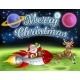 Santa Claus Rocket Sleigh Merry Christmas Cartoon - GraphicRiver Item for Sale