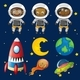 Set of Space Animals Element - GraphicRiver Item for Sale