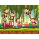 Monkeys on Train in The Jungle - GraphicRiver Item for Sale