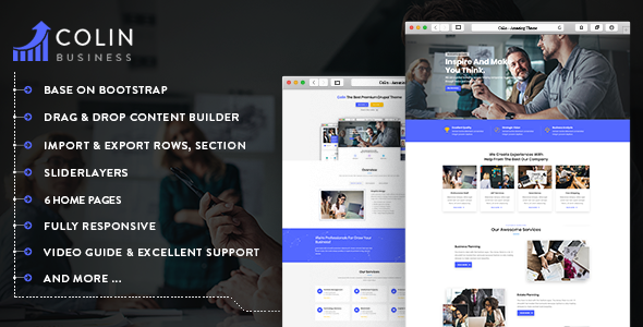 Colin - Responsive Multipurpose Business Drupal 8.6 Theme - Business Corporate