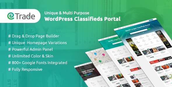 Trade - Modern Classified Ads WordPress Theme