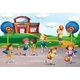 Students Playing Basketball in Physical Education - GraphicRiver Item for Sale