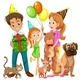 Family With Daughter and Many Pets - GraphicRiver Item for Sale