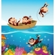 Monkeys at The Sea - GraphicRiver Item for Sale