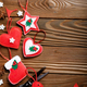 Handmade rustic Christmas tree decorations with scissors and ani - PhotoDune Item for Sale