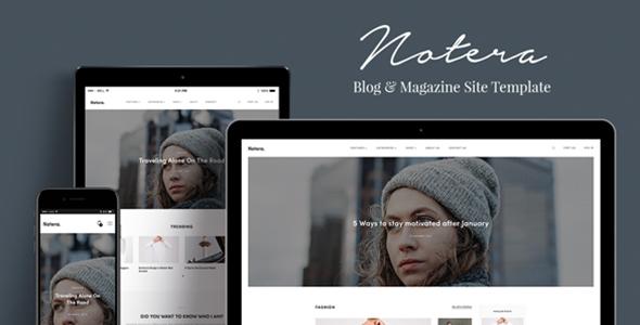 Notera – Modern Blog & Magazine HTML5 Site Template