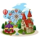 An Amusement Park on White Background - GraphicRiver Item for Sale