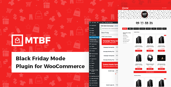 Black Friday Mode Plugin for WooCommerce            Nulled