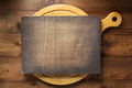 signboard at wooden cutting board - PhotoDune Item for Sale