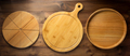 pizza or bread cutting board at wood - PhotoDune Item for Sale