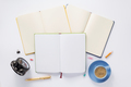 open notebook on white  background - PhotoDune Item for Sale