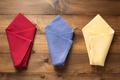 folded napkin on wooden background - PhotoDune Item for Sale