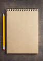 notepad at wooden background surface table - PhotoDune Item for Sale