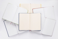 open notebook or book with empty pages on white  background - PhotoDune Item for Sale