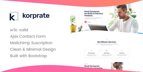 Korprate - One Page Corporate HTML5 Template