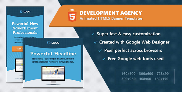 HTML5 Animated Banner Ads - Development Agency (GWD)            Nulled