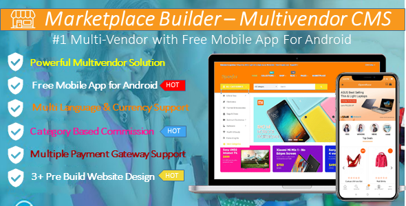 Marketplace Builder Multi - Vendor CMS with Android App - CodeCanyon Item for Sale