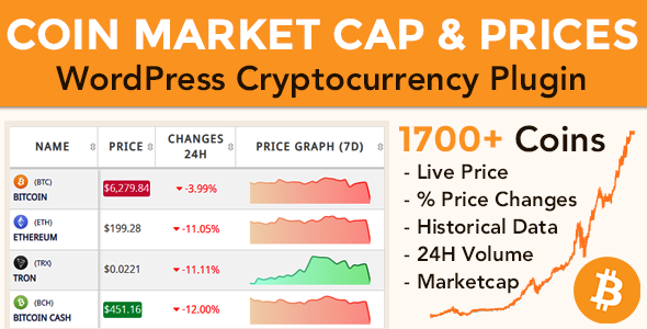 Coin Market Cap & Prices - WordPress Cryptocurrency Plugin - CodeCanyon Item for Sale