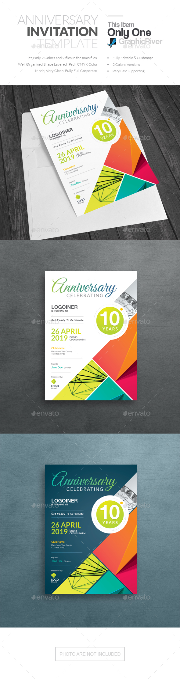 Anniversary Invitation - Cards & Invites Print Templates