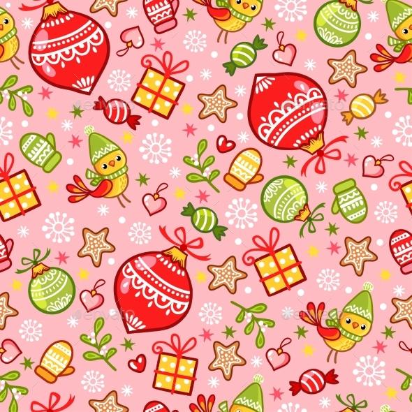 Vector Illustration on a Christmas Theme - Christmas Seasons/Holidays