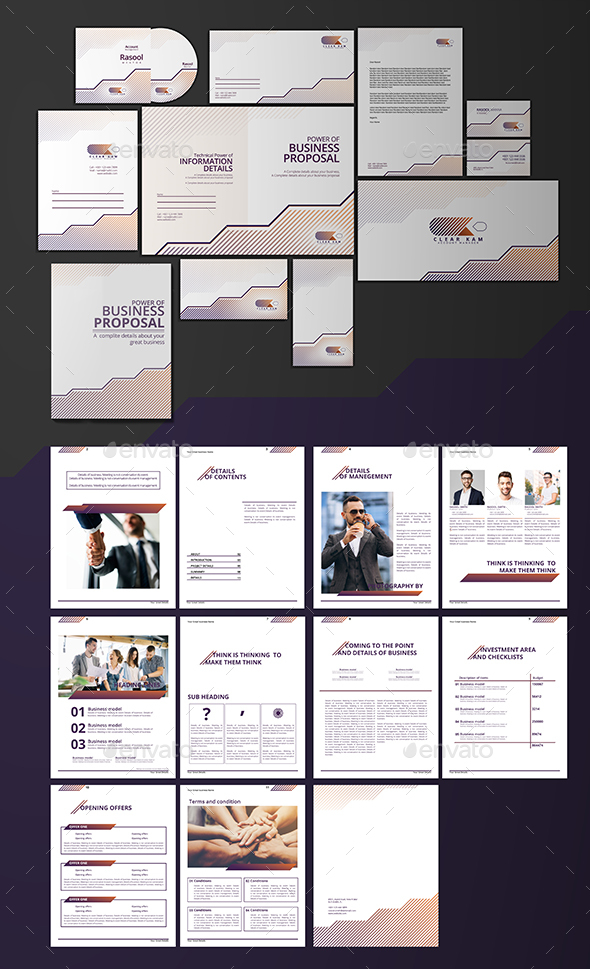 Branding Design & Proposal Templates - Stationery Print Templates