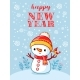 Christmas Card with Snowman - GraphicRiver Item for Sale