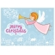 Christmas Greeting Card with a Flying Angel - GraphicRiver Item for Sale