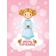 Vector Greeting Card with Angel Standing - GraphicRiver Item for Sale
