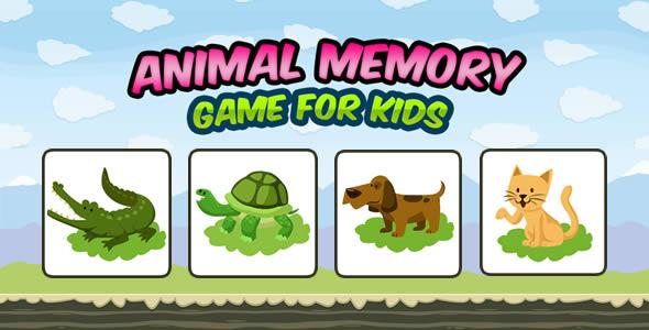 Animal Memory Game for Kids - CodeCanyon Item for Sale