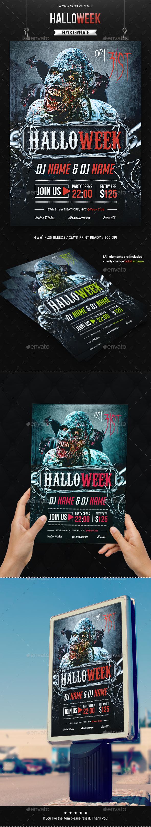HalloWeek - Flyer - Holidays Events
