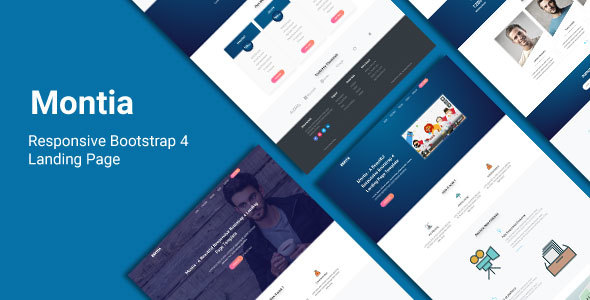 Montia - Responsive Bootstrap 4 Landing Page - Landing Pages Marketing